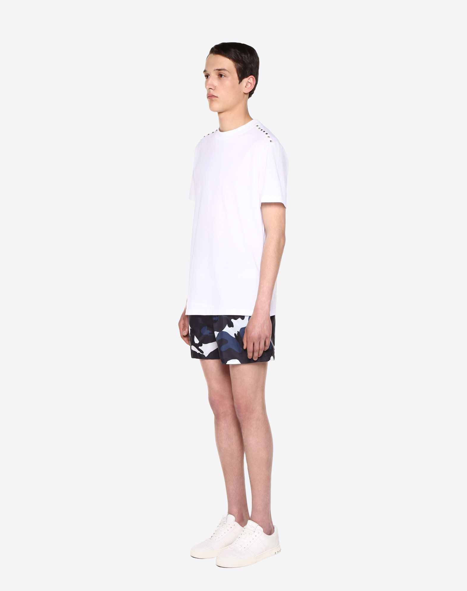 VALENTINO UOMO Camouflage print swimming shorts  SWIMSUITS U d