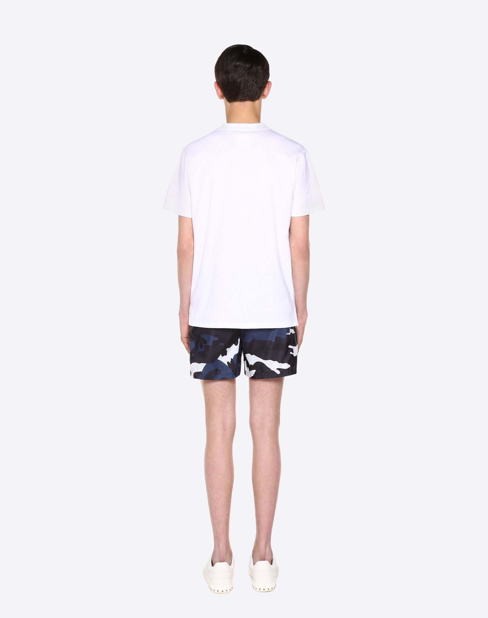 VALENTINO UOMO Camouflage print swimming shorts  SWIMSUITS U e