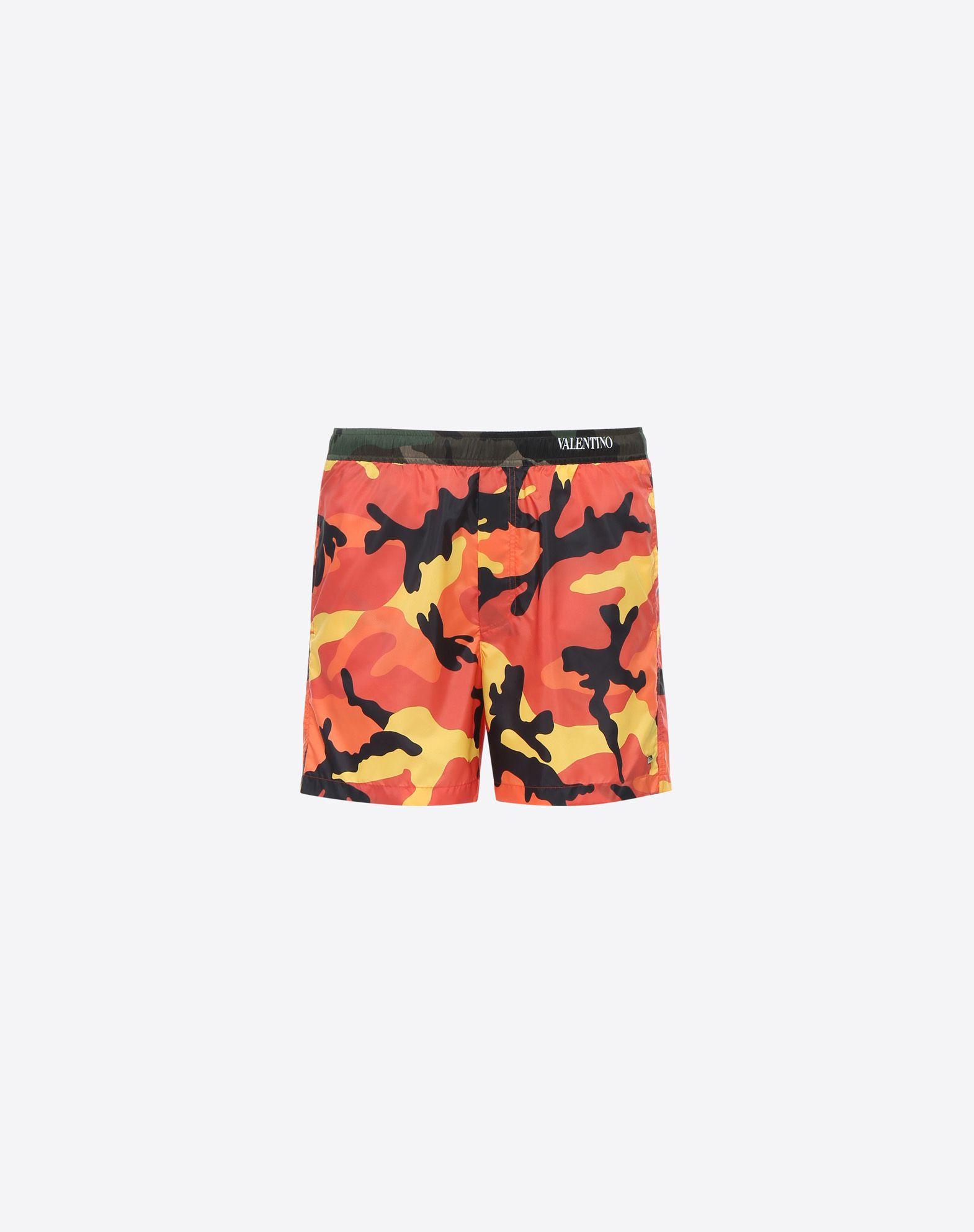 VALENTINO Techno fabric Camouflage Drawstring closure Internal slip Three pockets Logo  47224915tb