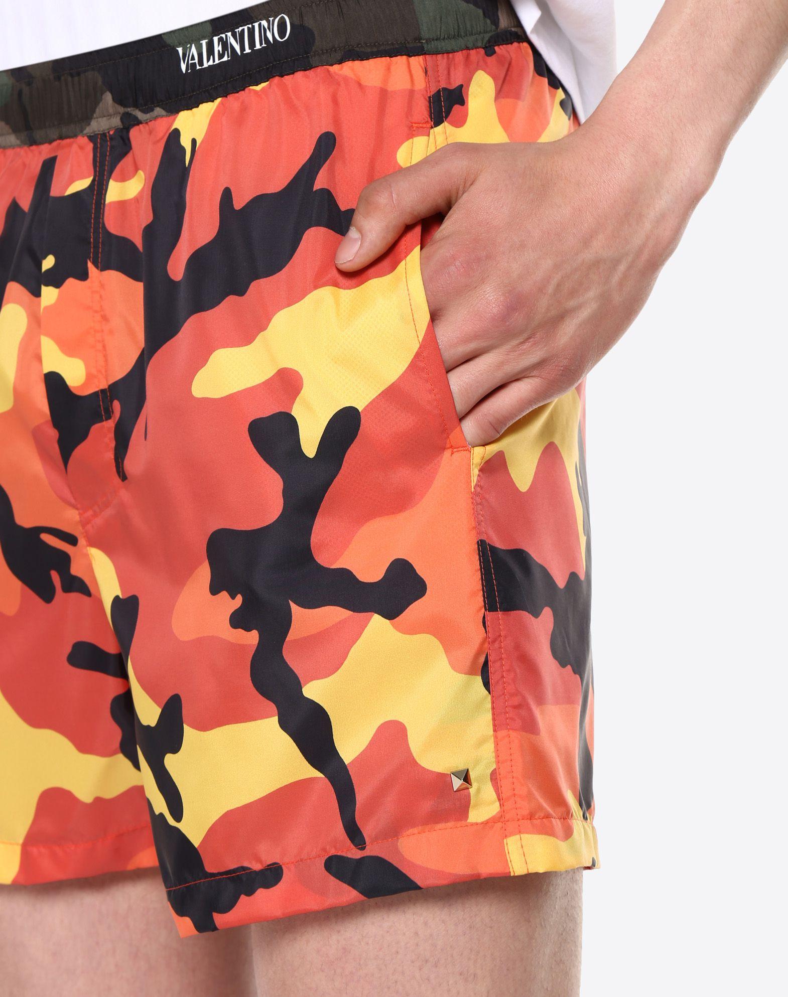 VALENTINO UOMO Camouflage-print swimsuit SWIMSUITS U a