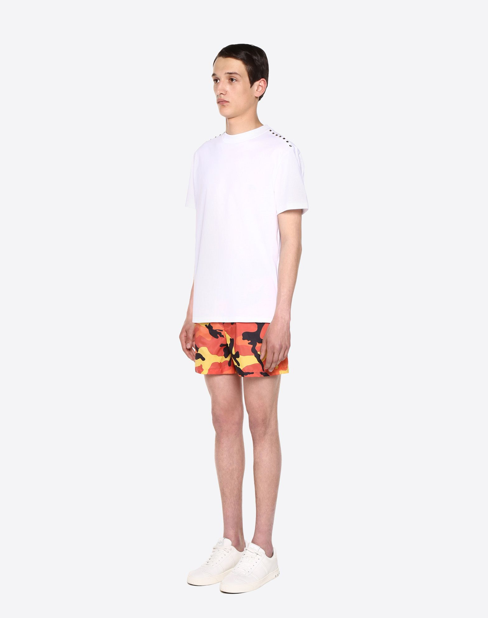 VALENTINO UOMO Camouflage-print swimsuit SWIMSUITS U d