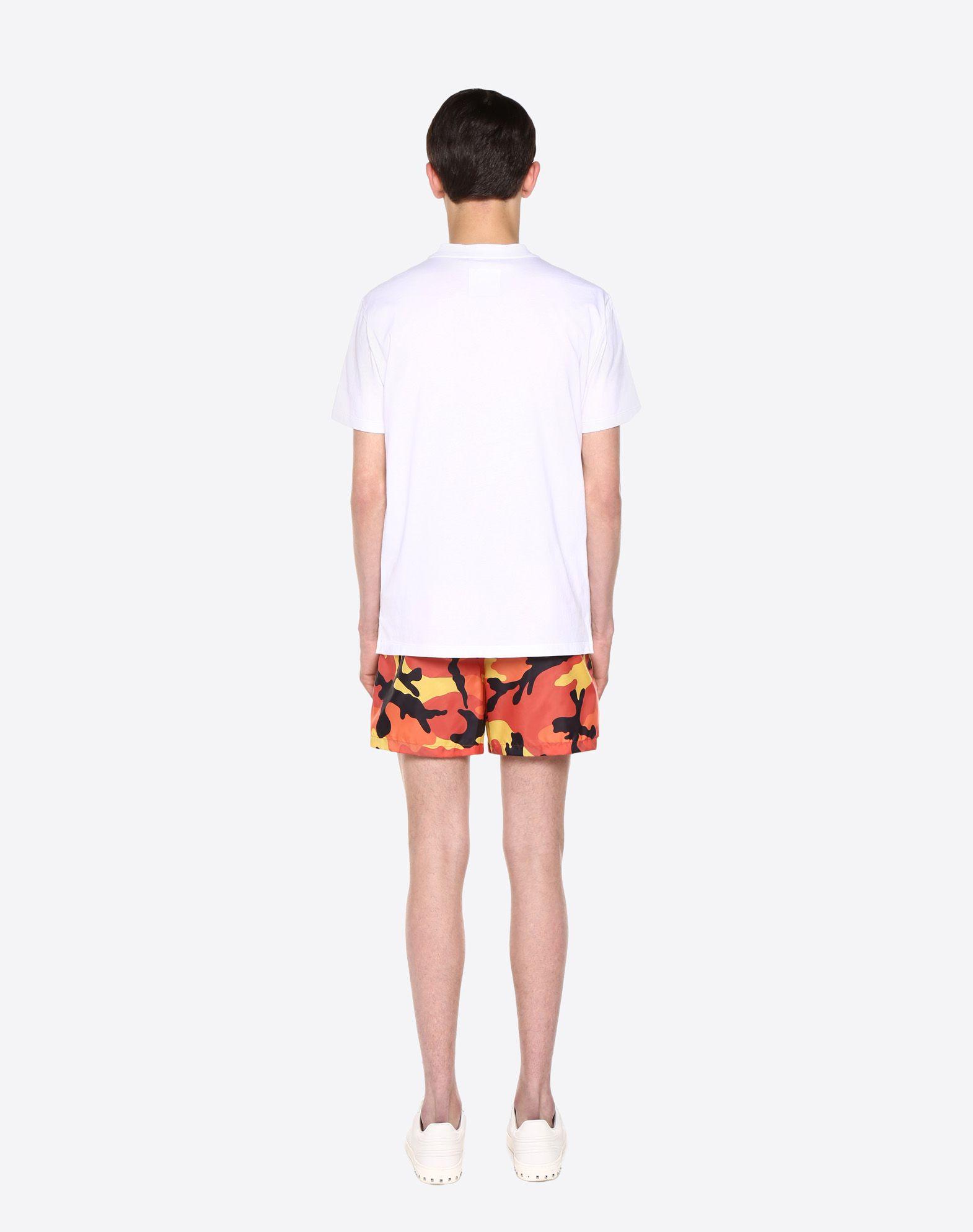 VALENTINO UOMO Camouflage-print swimsuit SWIMSUITS U e