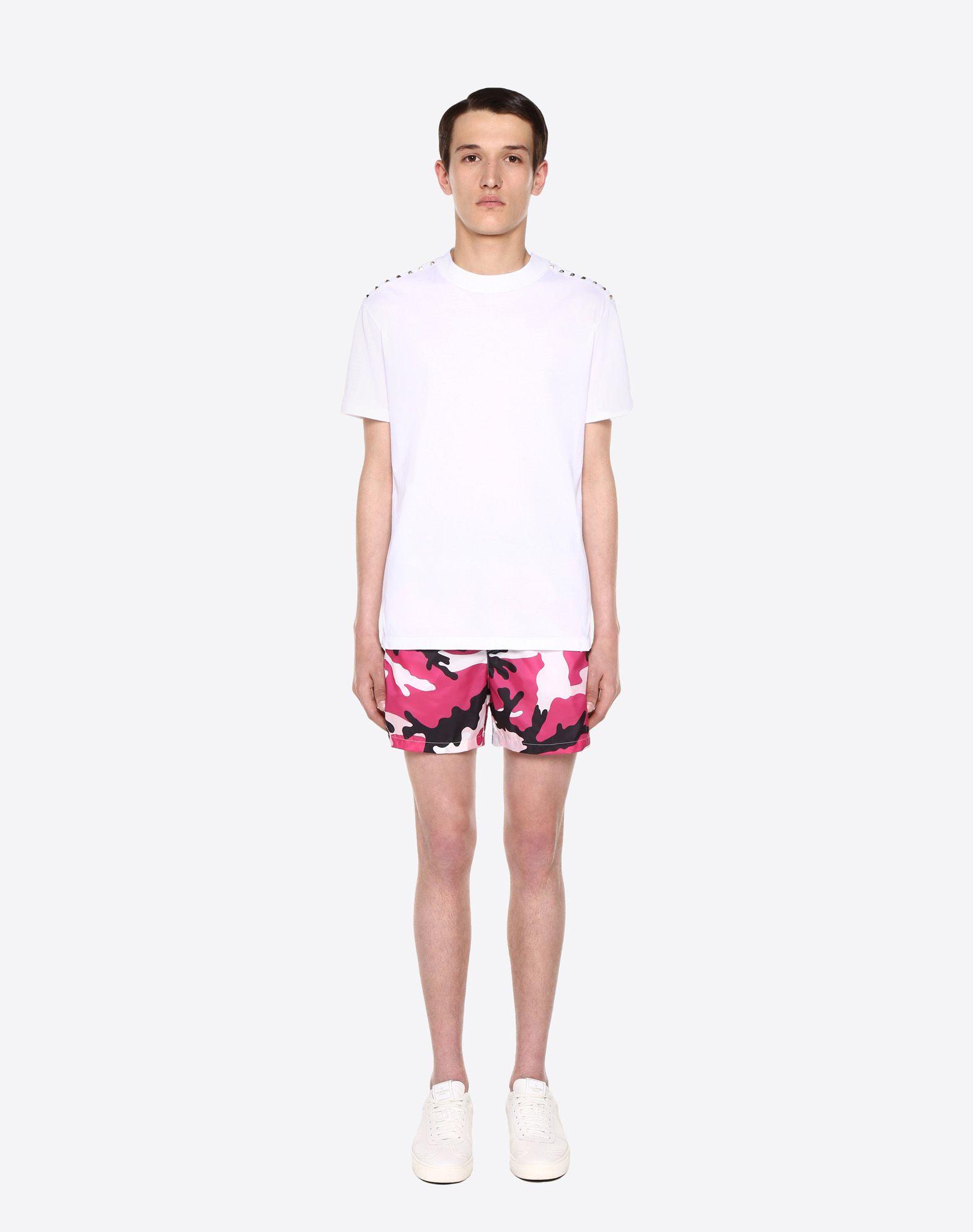 VALENTINO UOMO Camouflage-print swimsuit SWIMSUITS U r