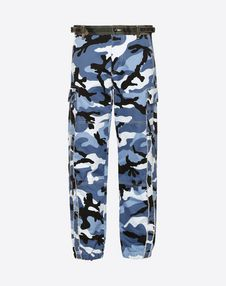 VALENTINO UOMO Trousers U Camouflage cargo pants f