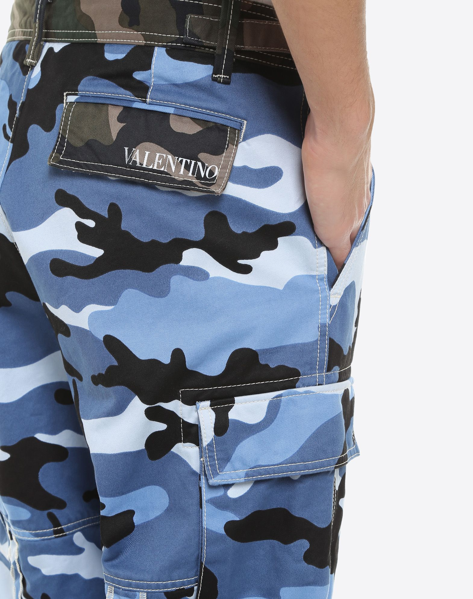 VALENTINO UOMO Camouflage cargo pants Trousers U a