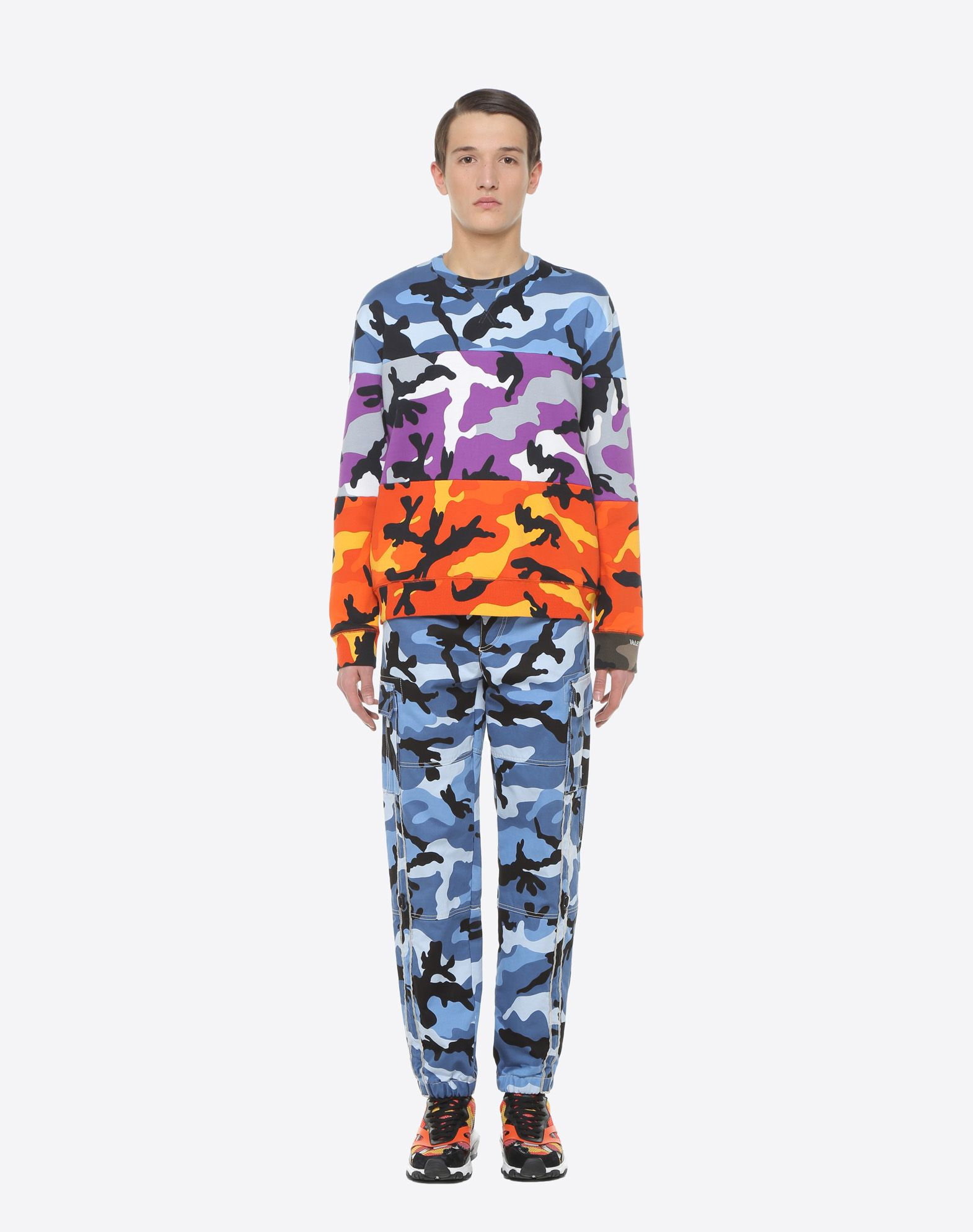 VALENTINO UOMO Camouflage cargo pants Trousers U r