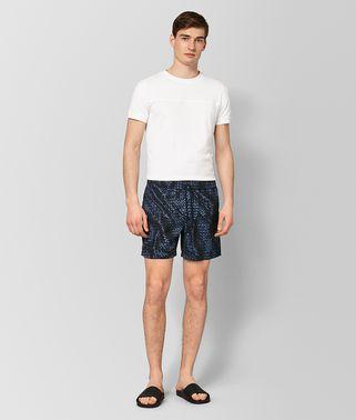 海军蓝涤纶泳衣