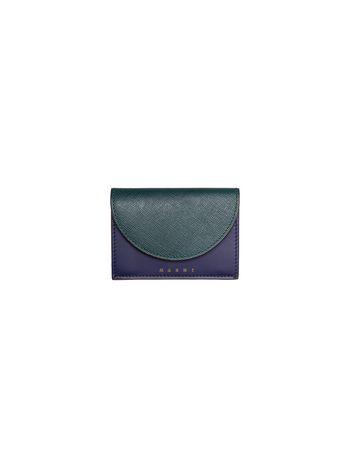 Marni Tri-fold wallet in saffiano calfskin Woman