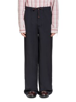 Marni Pants in tropical wool with drawstring  Man