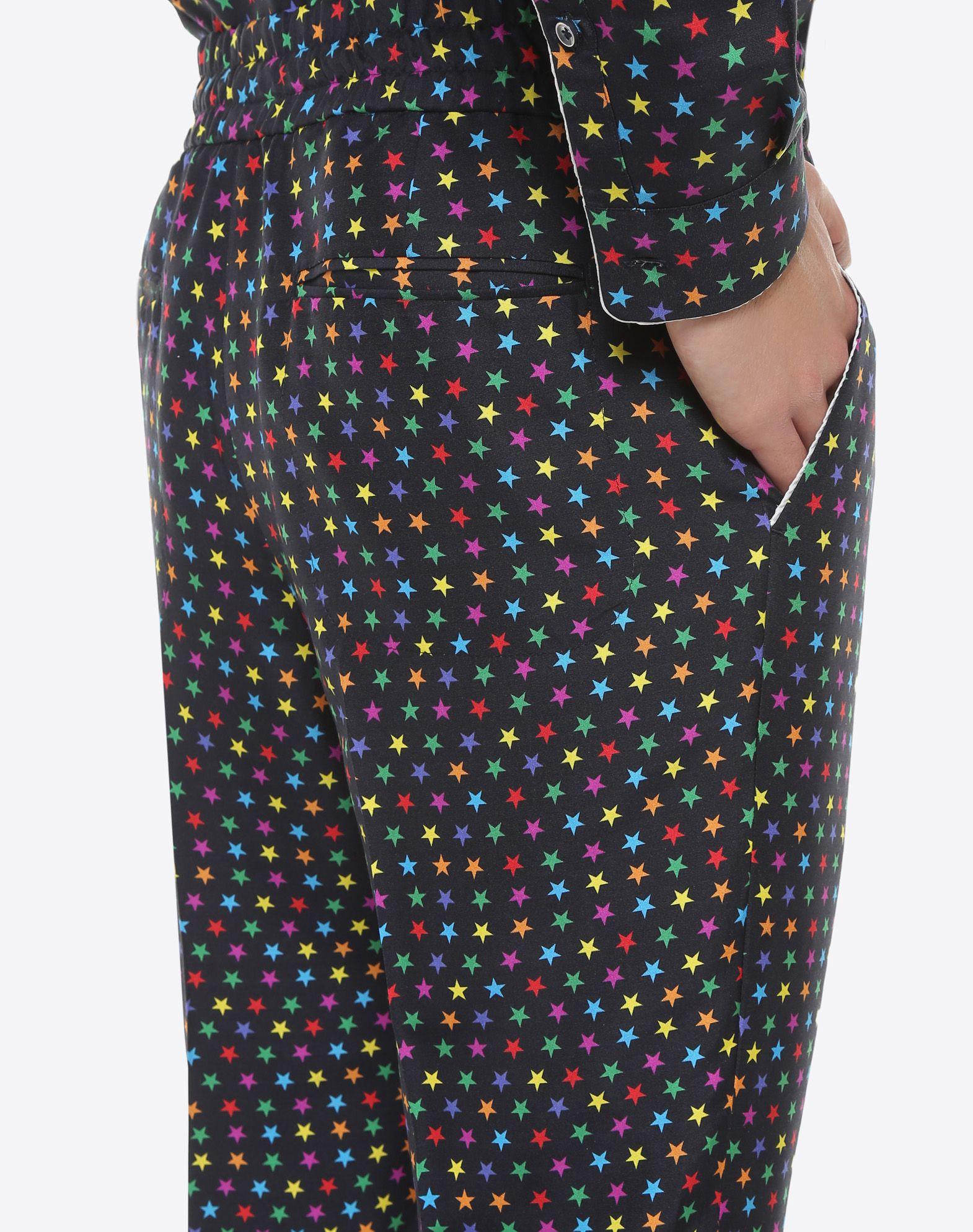 VALENTINO UOMO Pantalón pijama de seda con estampado de estrellas Pantalón U a