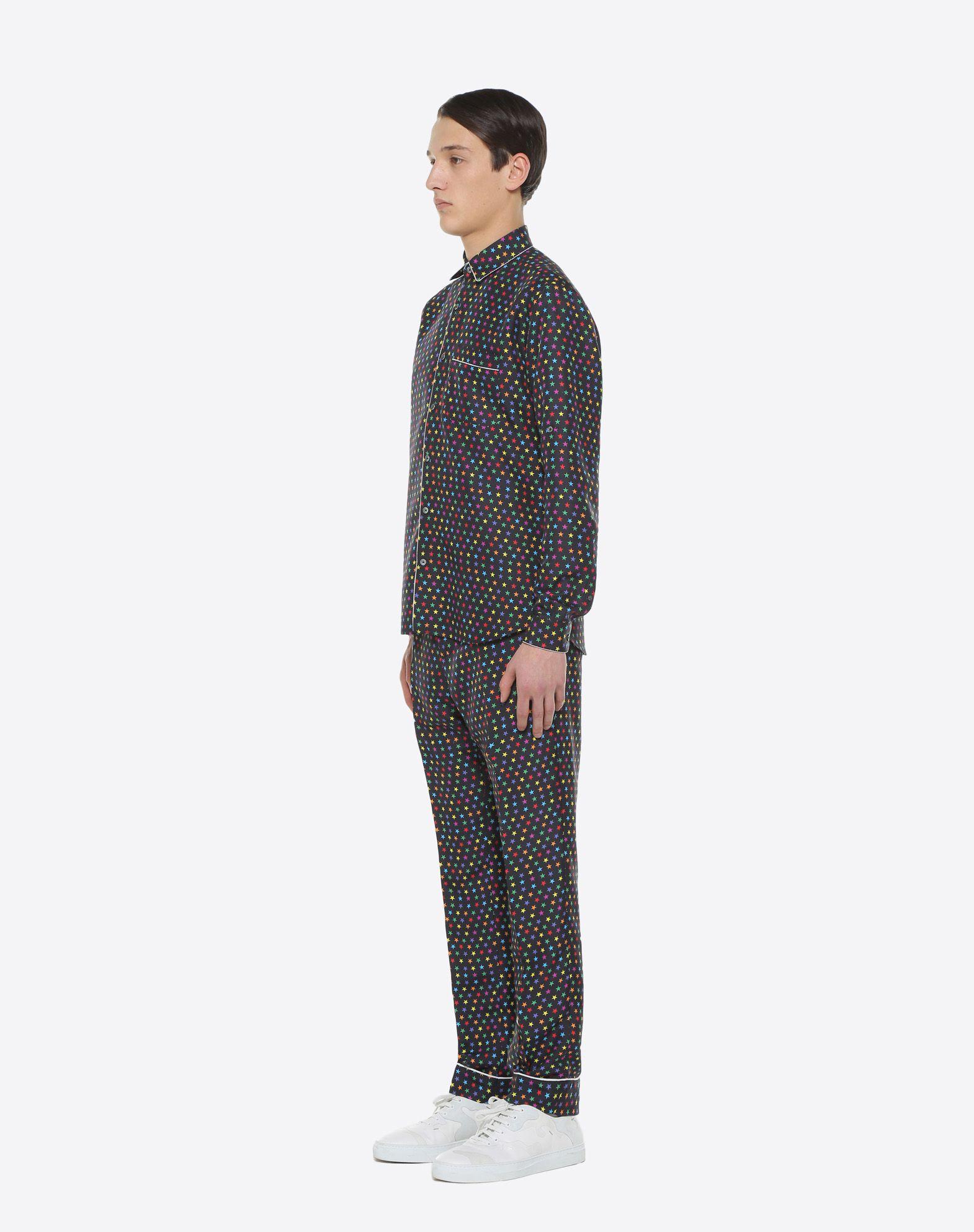 VALENTINO UOMO Pantalón pijama de seda con estampado de estrellas Pantalón U d