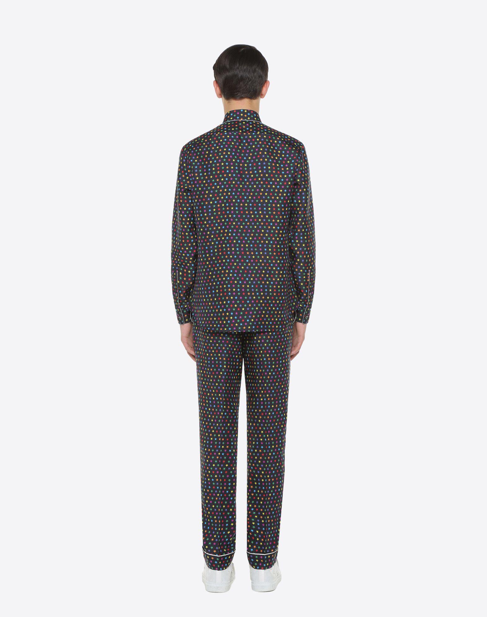 VALENTINO UOMO Pantalón pijama de seda con estampado de estrellas Pantalón U e