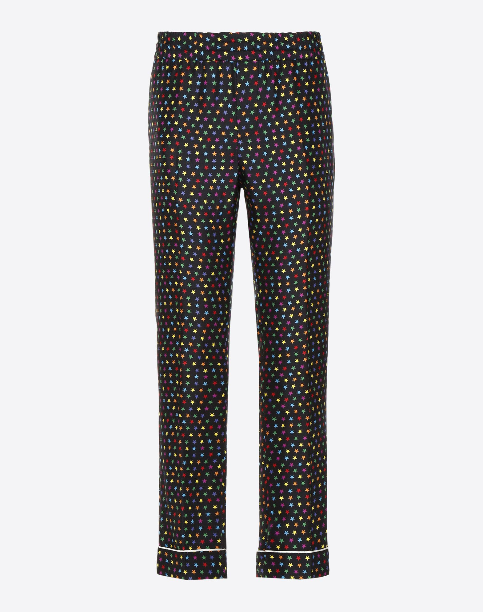 VALENTINO UOMO Pantalón pijama de seda con estampado de estrellas Pantalón U f