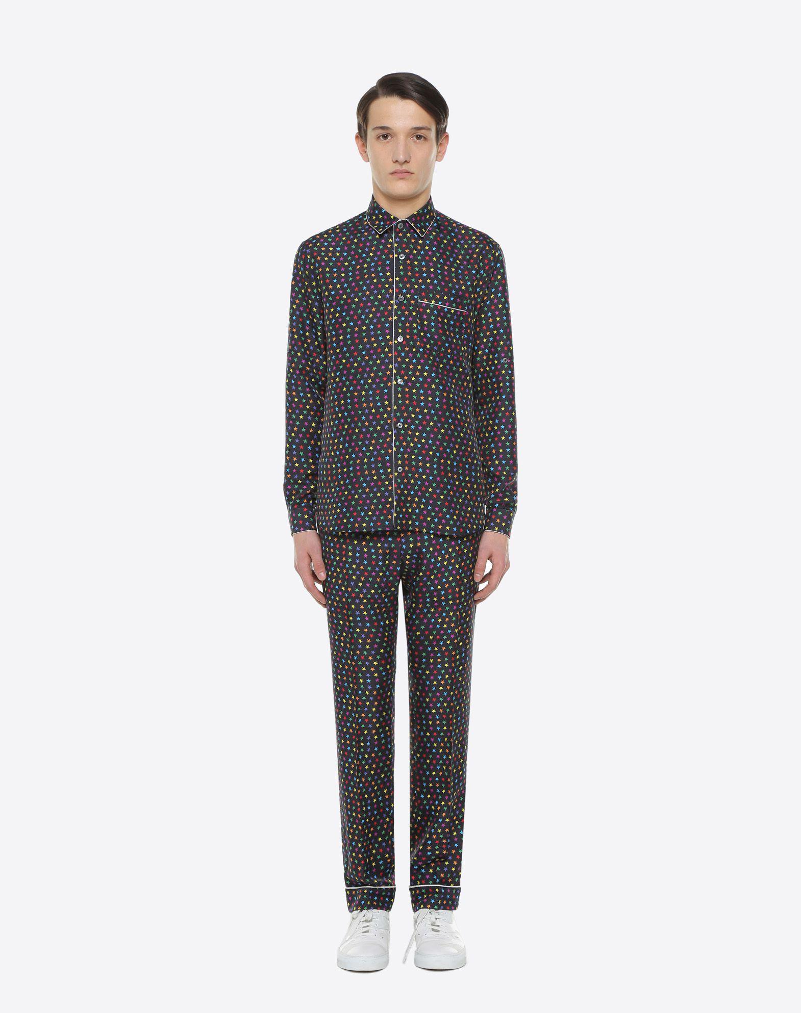 VALENTINO UOMO Pantalón pijama de seda con estampado de estrellas Pantalón U r