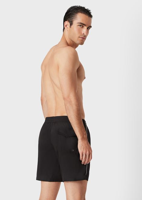 Swim shorts with drawstring
