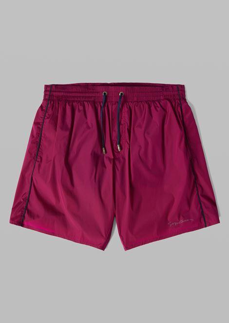 Swim shorts with drawstring