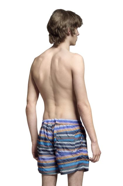MISSONI Swimsuit Slate blue Man - Front