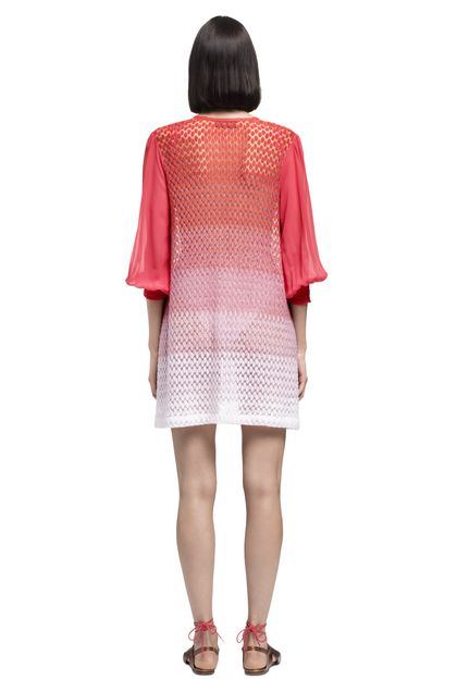 MISSONI MARE Short Beach Dress Coral Woman - Front
