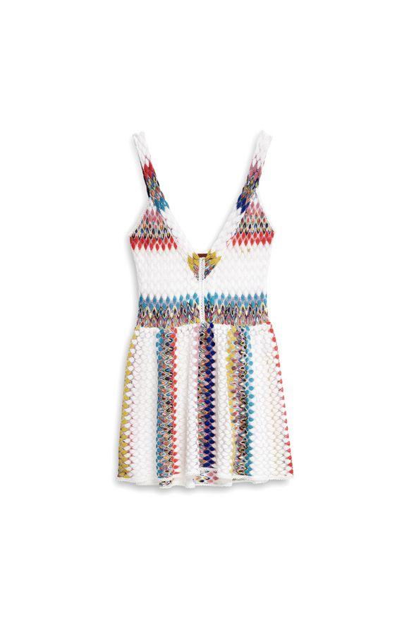 MISSONI Short Beach Dress White Woman