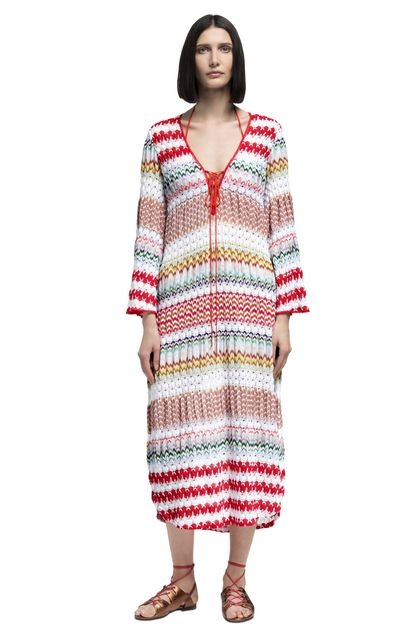 MISSONI MARE Long beach coverall White Woman - Back