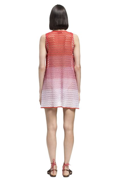 MISSONI MARE Short Beach Dress Orange Woman - Front