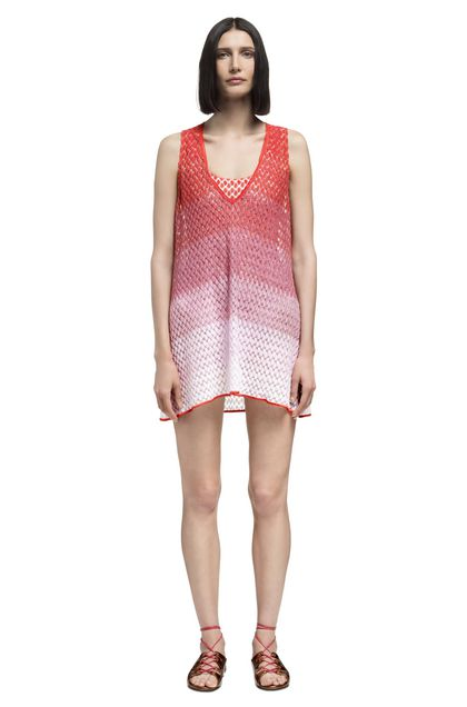 MISSONI MARE Short Beach Dress Orange Woman - Back