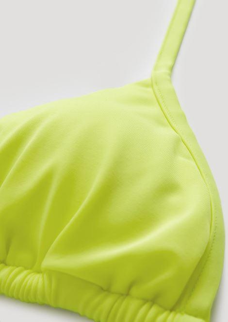 Triangular bikini swimsuit in stretch tech fabric