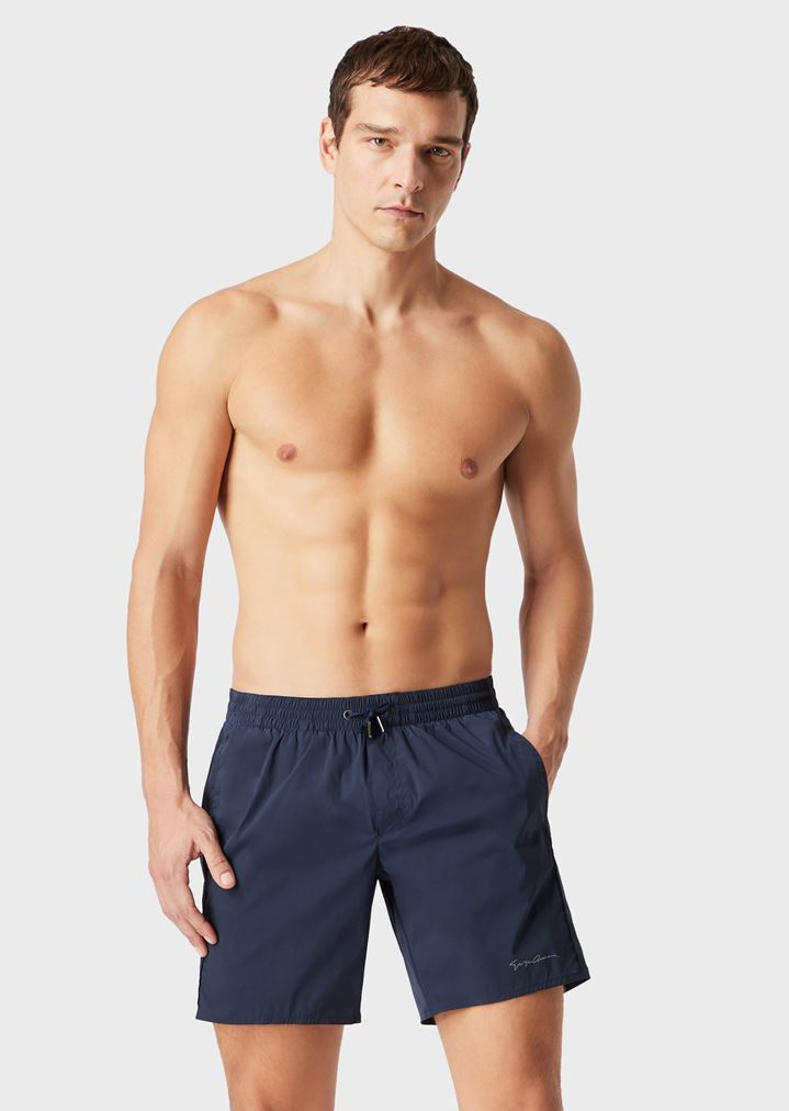 eb6da9d1ee Swim shorts with drawstring | Man | Giorgio Armani