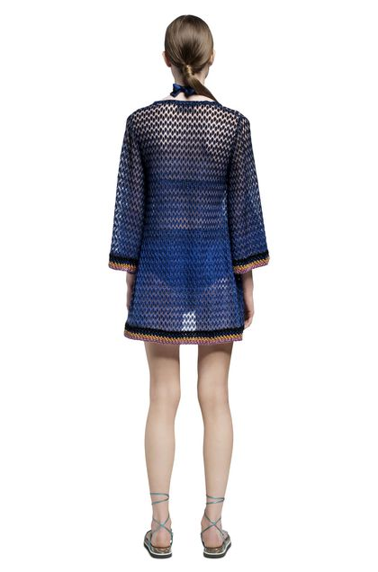 MISSONI MARE Short Beach Dress Blue Woman - Front