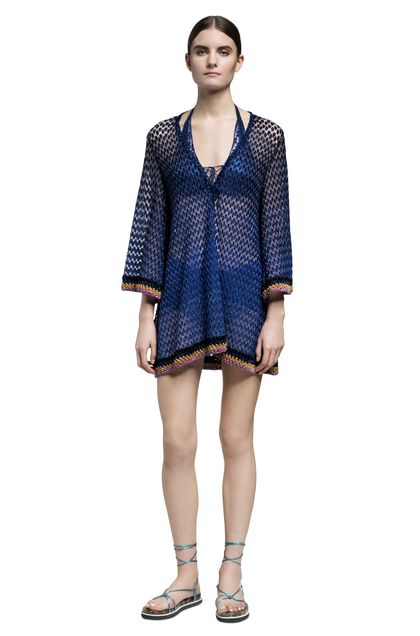 MISSONI MARE Short Beach Dress Blue Woman - Back