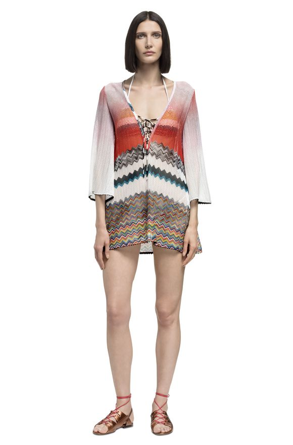 MISSONI Short Beach Dress Woman, Frontal view