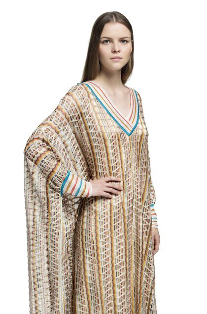 MISSONI Long dress Yellow Woman - Front