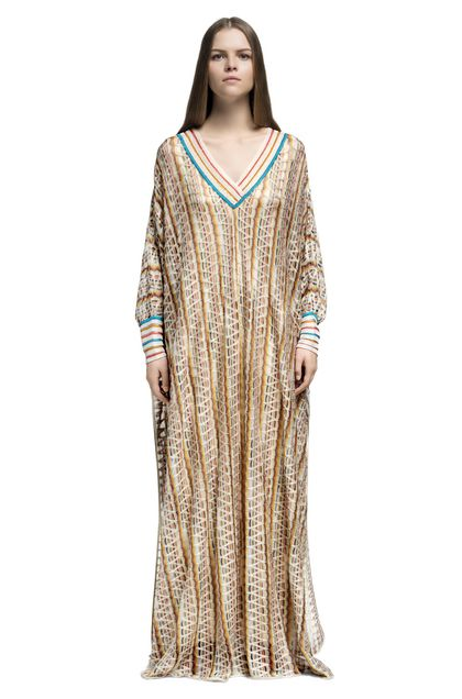 MISSONI Long dress Yellow Woman - Back