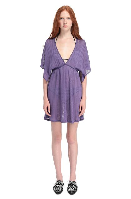 MISSONI MARE Short Beach Dress Purple Woman - Back