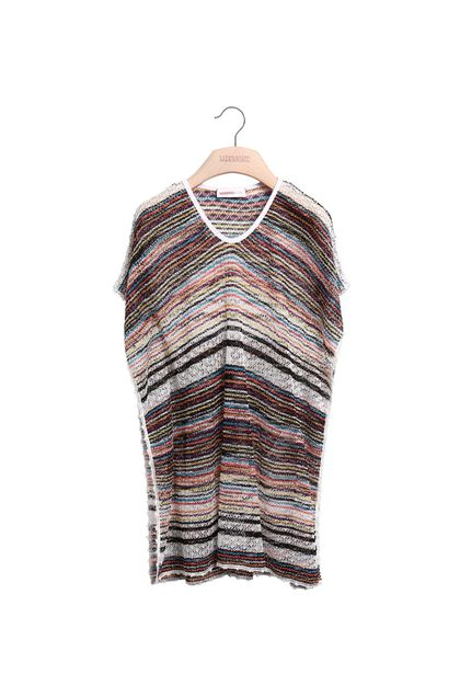 MISSONI KIDS Short Beach Dress White Woman - Back