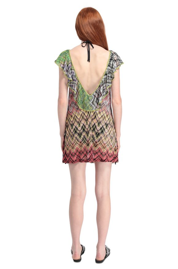 MISSONI Short Beach Dress Woman, Rear view