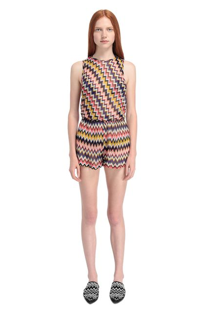 MISSONI MARE Beach Jumpsuit Purple Woman - Back