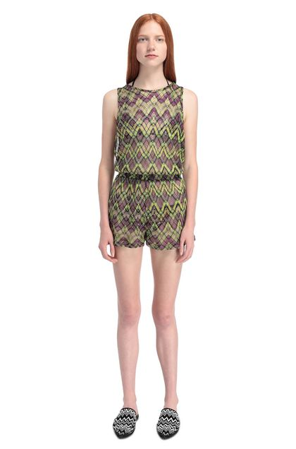 MISSONI MARE Beach Jumpsuit Green Woman - Back