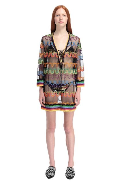 MISSONI MARE Kaftan Black Woman - Back