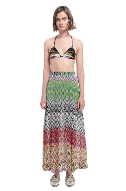 MISSONI MARE Beachwear skirt Yellow Woman - Back