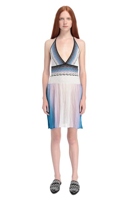 MISSONI MARE Short Beach Dress Lilac Woman - Back
