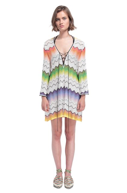 MISSONI MARE Kaftan White Woman - Back