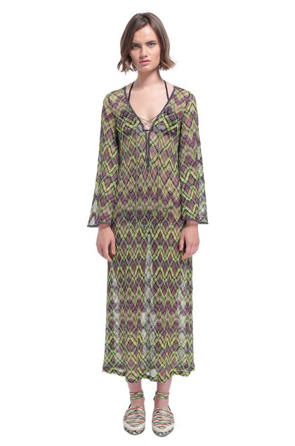 MISSONI MARE Kaftan Green Woman - Back