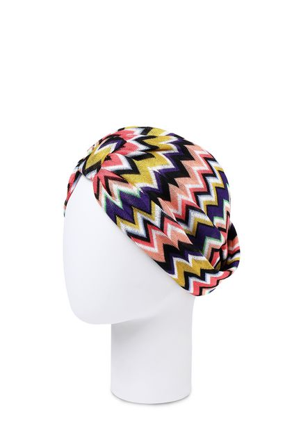 MISSONI MARE Beachwear turban Purple Woman - Front