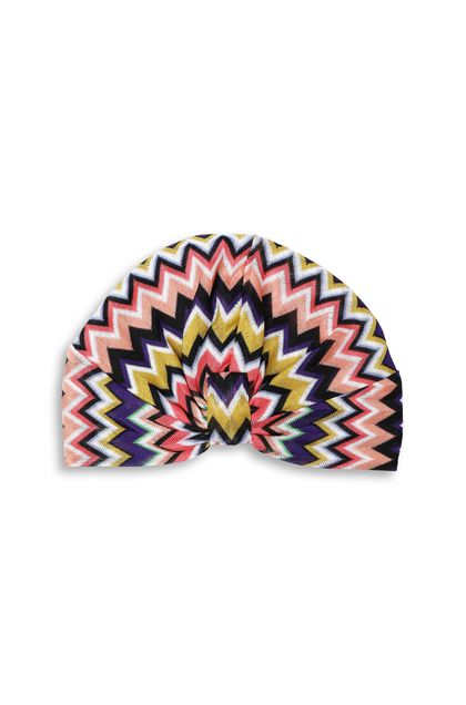 MISSONI MARE Beachwear turban Purple Woman - Back