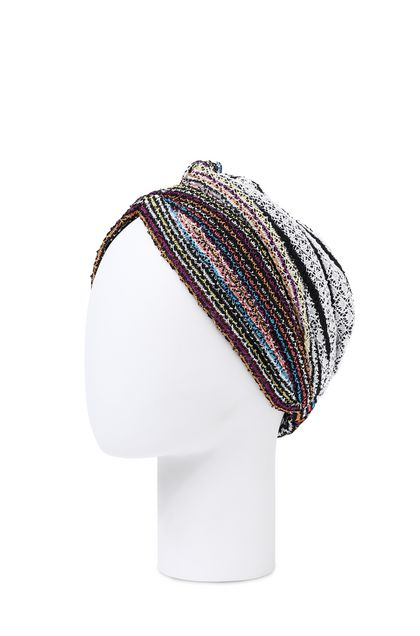 MISSONI MARE Beachwear head band Purple Woman - Front