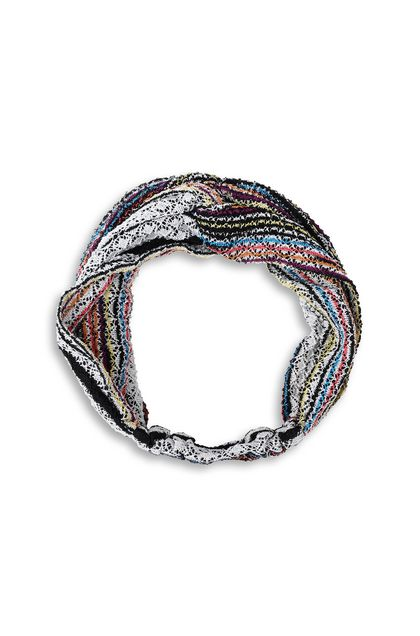 MISSONI MARE Beachwear head band Purple Woman - Back