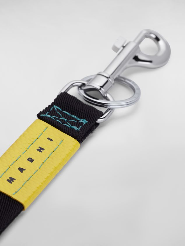 Marni Key ring in ribbon black and yellow Man - 3