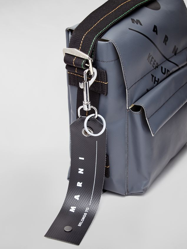 Marni Key ring in PVC black Man - 2