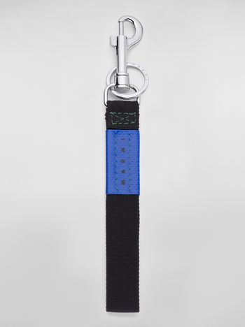 Marni Key ring in ribbon black and blue Man